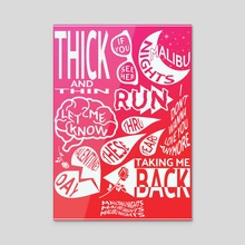 Malibu Nights Poster (Tracklist) - LANY - Acrylic by Tyler Crumrine