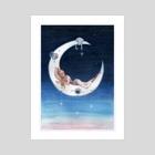 Moon - Art Print by Melissa Falconi