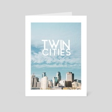 Twin Cities-Minneapolis and Saint Paul Minnesota - Art Card by Anthony Londer