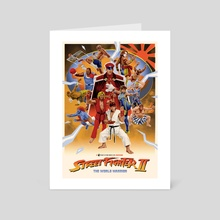 Street Fighter II - The World Warrior - Art Card by Party in the Front