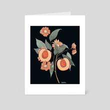 Peaches (Dark) - Art Card by Alexandra T.