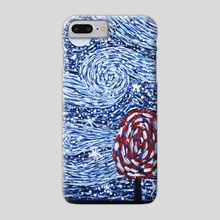 The sky is in the style of Van Gogh. Acrylic energy painting. - Phone Case by Dmytro Rybin