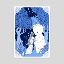 The Bear Prince in the Woods - Canvas by Trungles