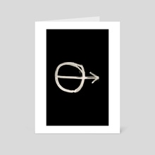 Hobo Sign - 059 - Go Inverted - Art Card by Wetdryvac WDV