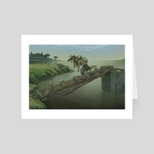 The Ancestor's Bridge - Art Card by Aldermoth