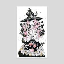 hydroponic witch - Canvas by koyamori
