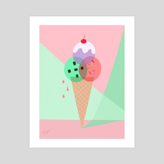 Ice Cream by Pineapple Art