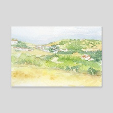 Burgau village - Algarve, Portugal - Acrylic by Carl Conway