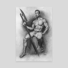 Yoni Figure Drawing - Canvas by Pavel Sokov
