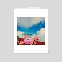 Breakfast with a view - Art Card by Emanuele Borasco