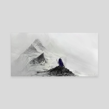 Mute mountains - Canvas by Timi Honkanen