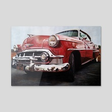 American Dream Car - Acrylic by J.Bello Studio