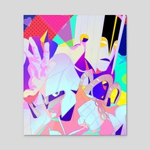 Crazy Noisy - Acrylic by Dayun