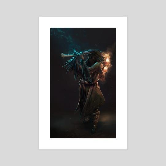 Raven Flute by Michael Doig