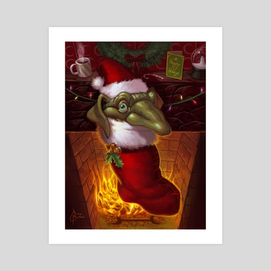 Stocking Goblin by Mike Burns