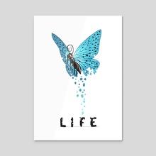 Life - Acrylic by Indré Bankauskaité