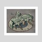 Assault Spaceship - Art Print by Sady M. Izé