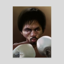 """Manny """"Pacman"""" Pacquiao - Canvas by Alexander Novoseltsev"""