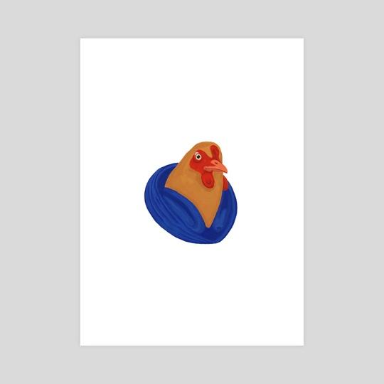 Farm Fashion - Chicken by Loretta Ryan-Krawczyk