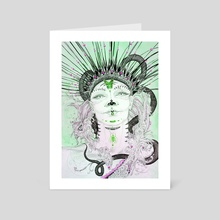 Courage to Live (green colourway) - Art Card by Ruth Park