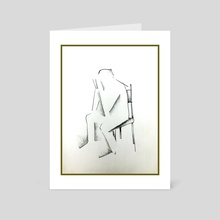 Sitting & Waiting - Art Card by Charlie Alright