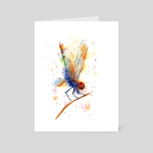 Dragonfly - Art Card by Olga Shefranov (PaintisPassion)