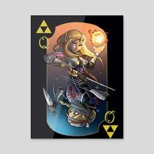 Queen of Magic - Zelda/Shiek - Acrylic by Martin Kirby