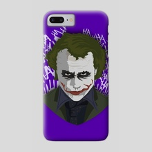 The Joker from The Dark Knight trilogy - Phone Case by Danilo Almeida