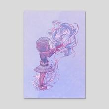 tirikohu - Acrylic by Parish Cherry
