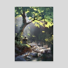 Forest - Canvas by Surendra Rajawat