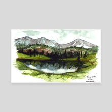 Trout Lake - Canvas by Emily Martin