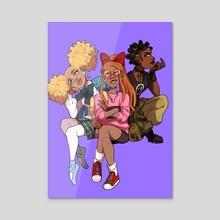 Power Puff Girls - Acrylic by princeorca