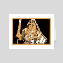 White Knight - Art Card by Bronwen MacDonald