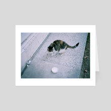 Cat - Art Card by Da Eun Kim