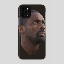 Idris Elba Low-Poly - Phone Case by Micah Denn