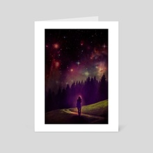 Galaxy world - Art Card by zahra Grafics