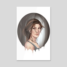 Lara Croft - Acrylic by Lilia Smith