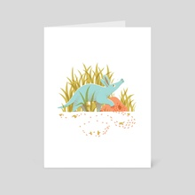 Regnum Animale - Aardvark - Art Card by Laura Sásdi