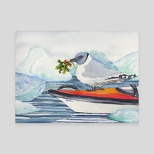 Deck the Gulls with Bows of Holly - Canvas by Jason Vukovich