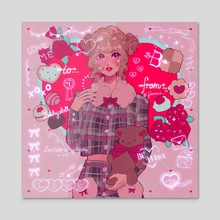 Love Letter - Acrylic by Jisa