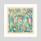 Grunge Geometry C - Art Print by Simon C Page