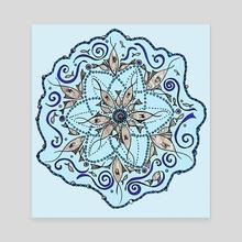 Fish Mandala - Canvas by Abigail Latham