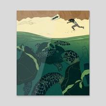 Tortugas - Acrylic by Alyssa Maynard