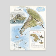 Cape Horn - Exploration AD 1616 - Canvas by The Last Mapmaker  - Filippo Vanzo