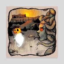 Pumpky & Medussa - Canvas by Patricia Pedroso