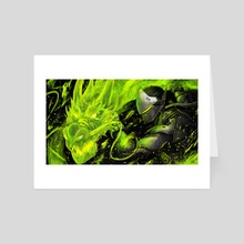 Genji - Overwatch - Art Card by Anastasia Su