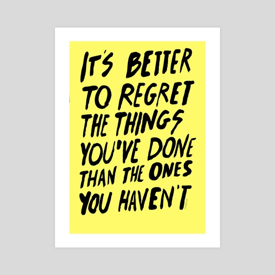 #NOREGRETS by wrd bnr
