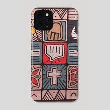 Mosaic Spirit - Phone Case by Bernardo Ramonfaur