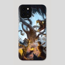 Hydra Battle - Time Hunters - Phone Case by Andrew Gaia
