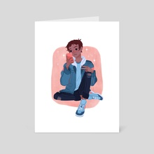 Selfie Lance - Art Card by Olivia Chin Mueller